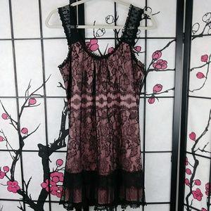 Ezra Blush & Lace Sexy Mini Dress